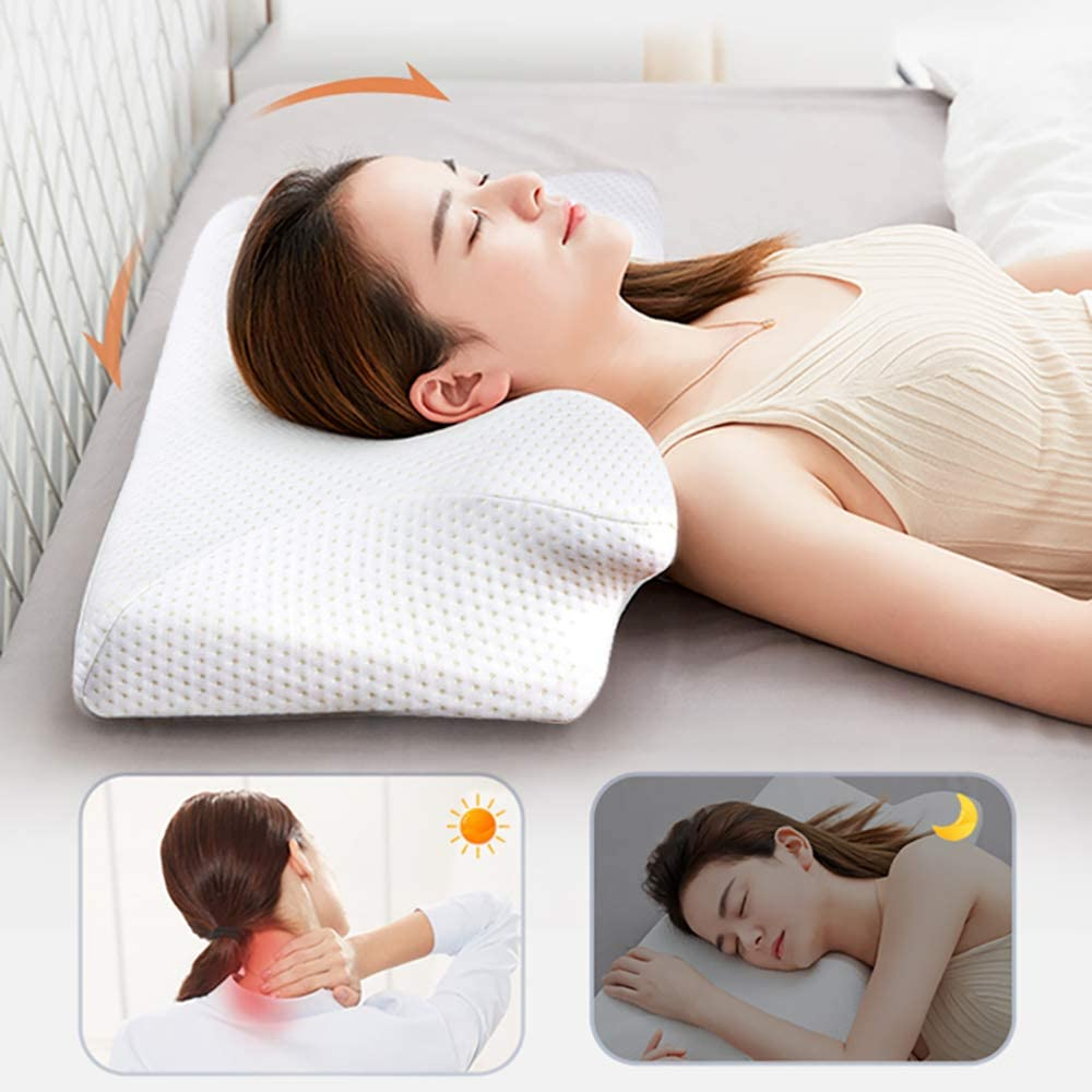 ALICED Contour Neck Pillow, Memory Foam