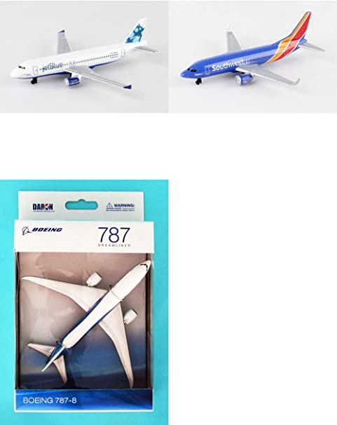 "Southwest Airlines Diecast Airplane Package Two 5.5/"" Diecast Planes Jetblue"