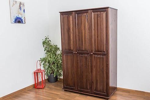 Kleiderschrank, Breite: 120 Cm, Farbe: Nuss