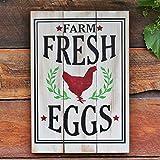 Farm Fresh Eggs Rustic Chicken Wood Wall Art Sign Rustic Home Decor Gift
