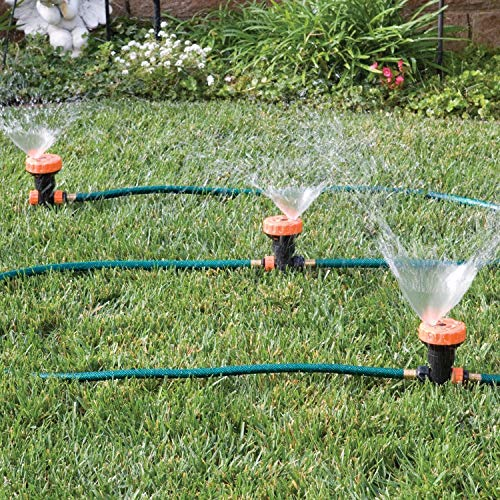(Portable Lawn Sprinkler System - 3 in 1 Portable Sprinkler System with 5 Spray Settings)