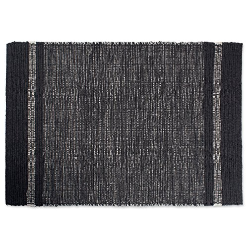DII Contemporary Reversible Indoor Area Rag Rug, Machine Washable, Handmade from Recycled Yarn, Unique For Bedroom, Living Room, Kitchen, Nursery and more, 2 x 3' - Gray Variegated (Shag Rag)