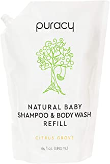product image for Puracy Natural Baby Shampoo & Body Wash Refill, 64 Ounce, Tear-Free Hypoallergenic Infant Bath Soap
