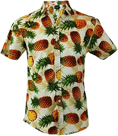 TRANKILO Camisa Estampado de Piñas (S): Amazon.es: Ropa y accesorios