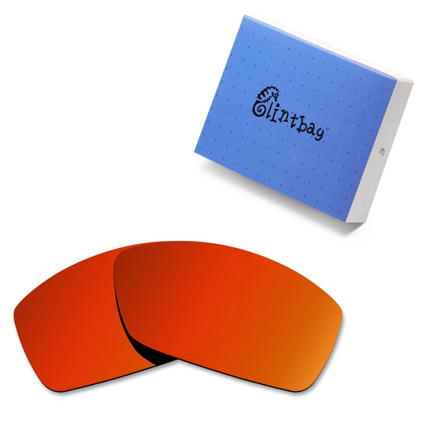 Glintbay 100% Precise-Fit Replacement Sunglass Lenses for Costa Del Mar Corbina - Polarized Fire Red Mirror by Glintbay