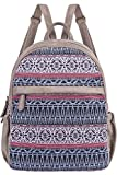 Cute Backpack for Women Canvas High School Daypack Casual Bookbags (Blue Multicoloured)