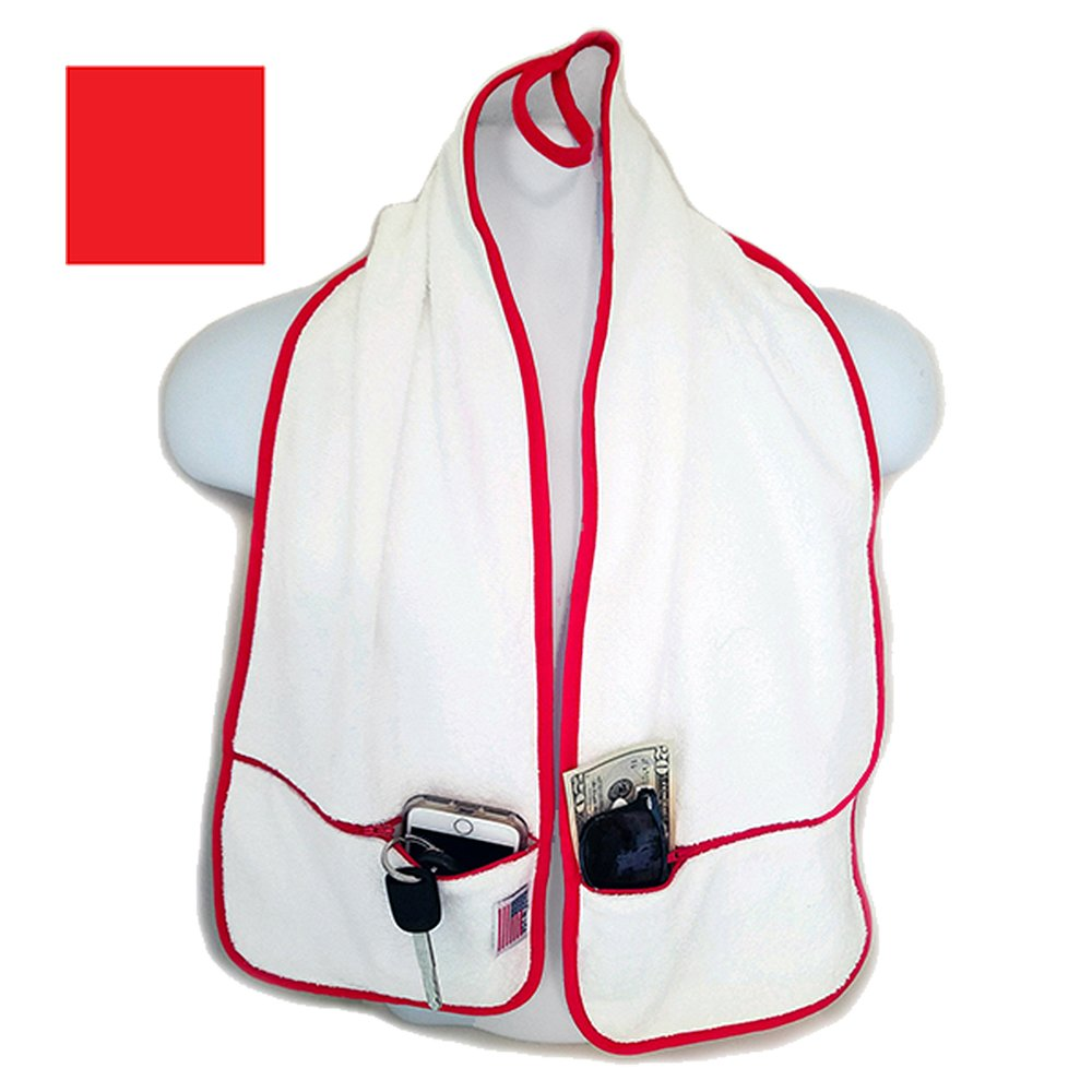 RJ Hall Gym Towel With Pockets