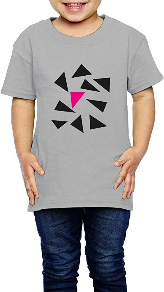 Kcloer24 Triangles Boys/&Girls Organic T-Shirt Tops Short Sleeve Tee 2-6 Years Old
