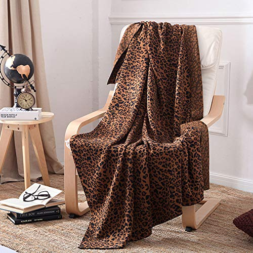 Cotton Leopard Knitted Blanket Throws Sofa Blanket Home Decoration Warm Comfortable Leisure Blanket Armchair Cover Modern Air Conditioning Quilt 120×180cm