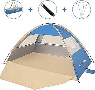 Gorich [2020 Upgrade Beach Tent,UV Sun Shelter Lightweight Beach Sun Shade Canopy Cabana Beach Tents Fit 3-4 Person