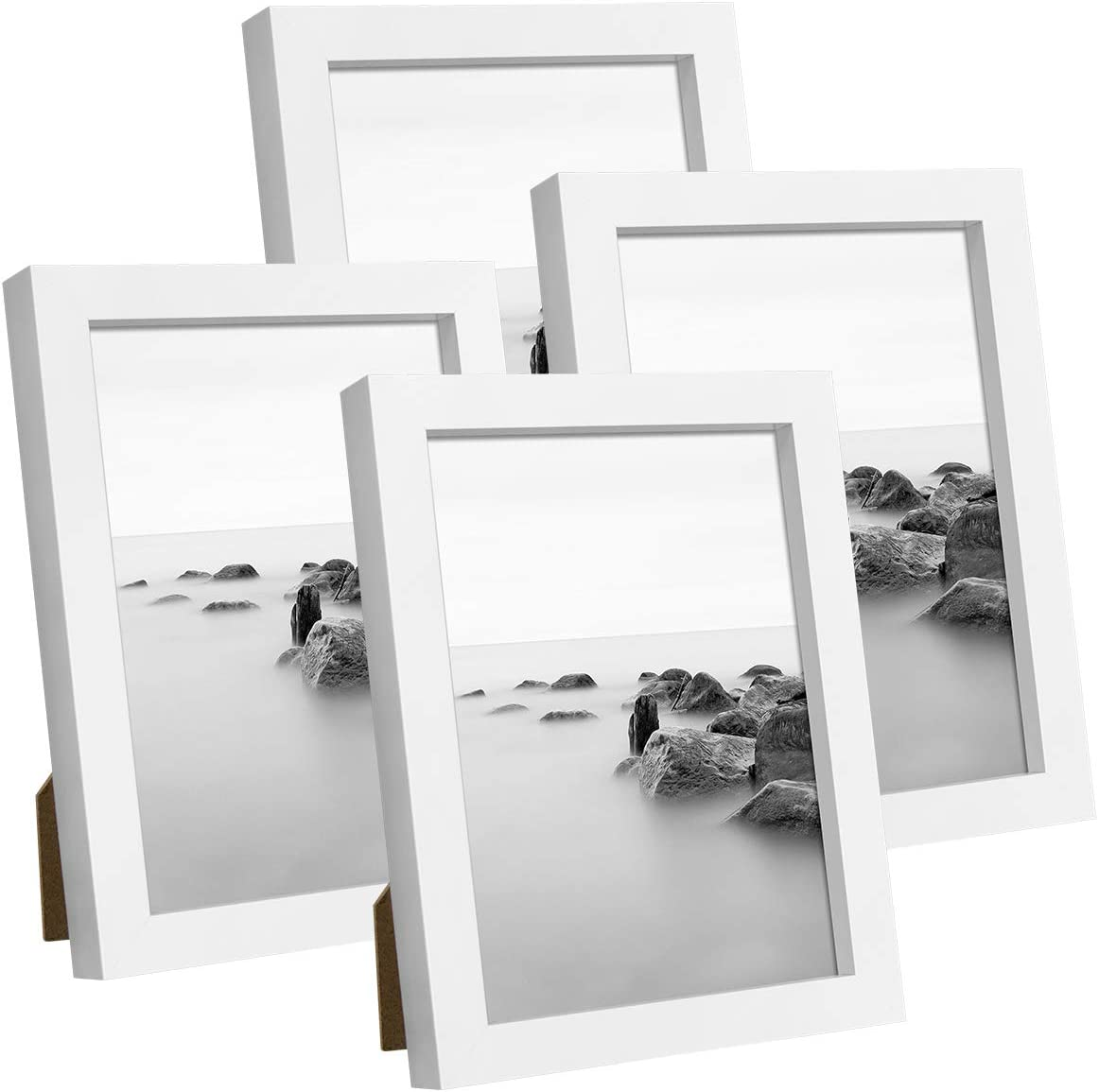 Real Glass Front for Tabletop or Mount Q.Hou 7x5 Inch White Picture Photo Frame 3 Packs 005UK-QH-PF5X7-WHT