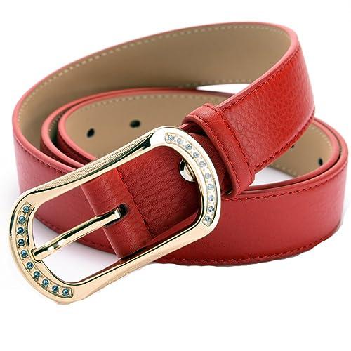 Cintura Rossa Cinture Donna Selvatici,Cinture Di Moda-C 105cm(41inch)
