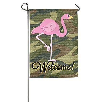 amazon com flamingo template pink beauty good life burlap garden
