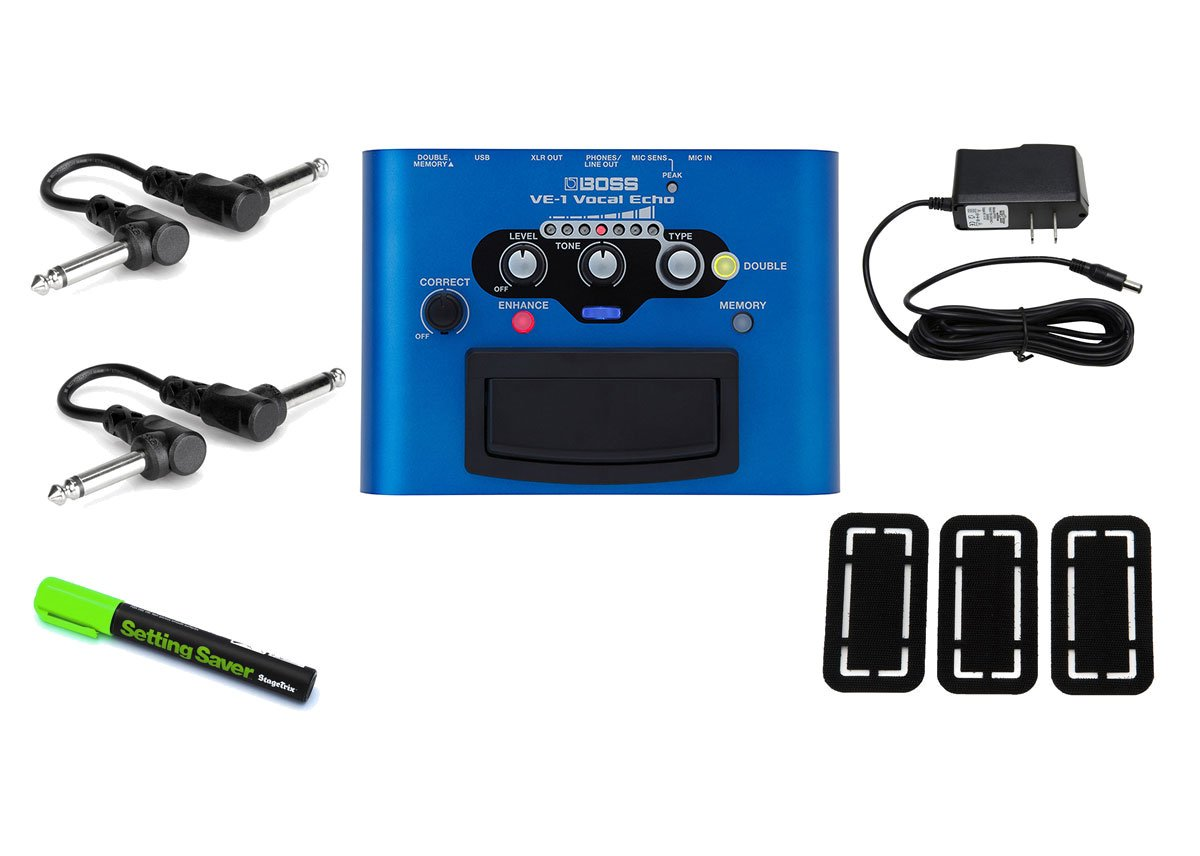 Boss VE-1 Vocal Echo PRYMAXE PEDAL BUNDLE
