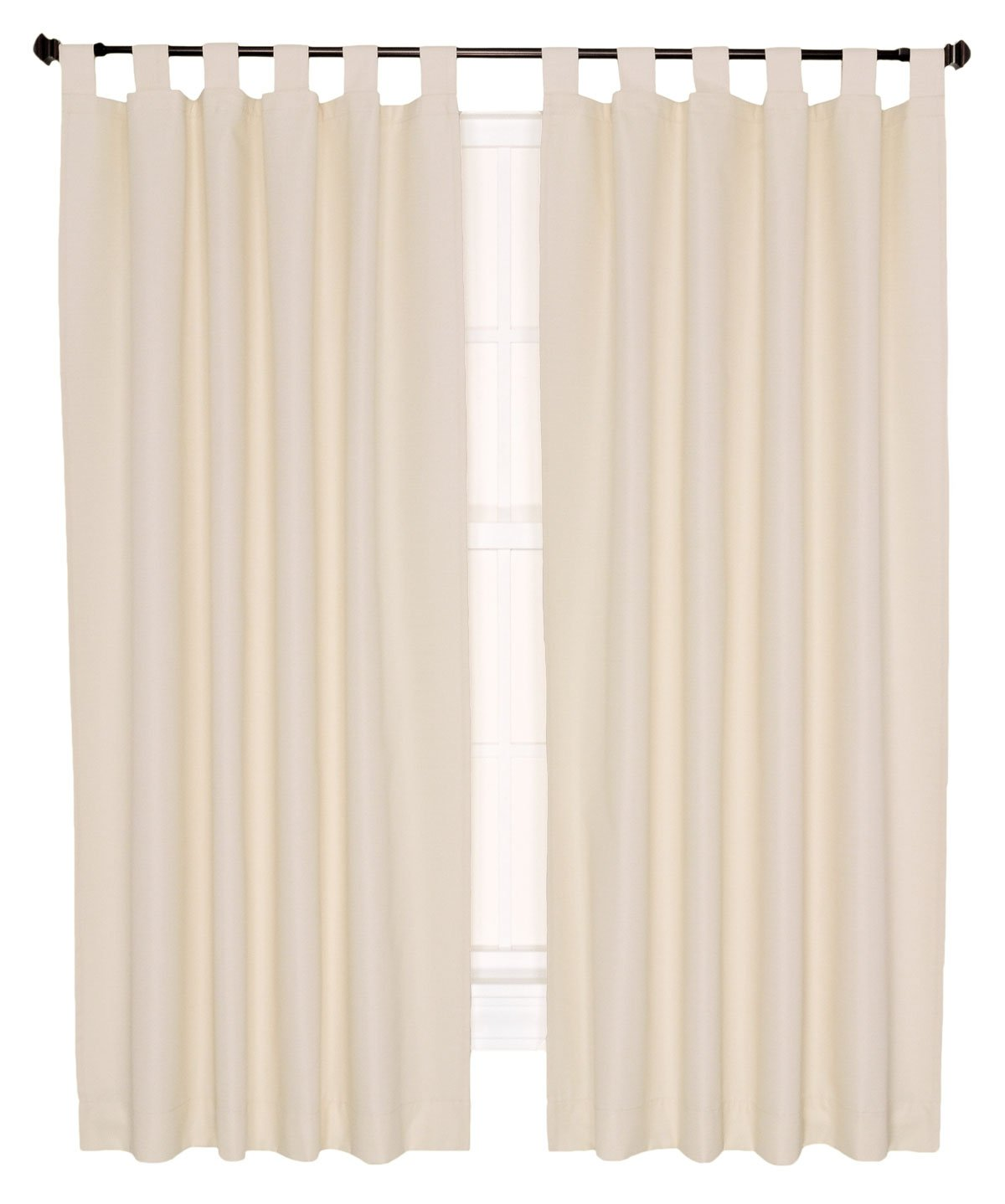 Couldn t find a picture of the curtains anywhere online this is - Amazon Com Ellis Curtain Crosby Thermal Insulated 160 By 84 Inch Double Width Tab Top Foamback Curtains Bordeaux Home Kitchen