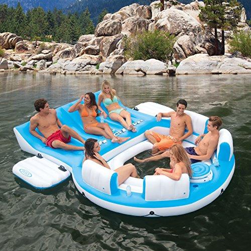 Intex Relaxation Island Raft And Intex AC Electric Air Pump | 56299CA + 66619E