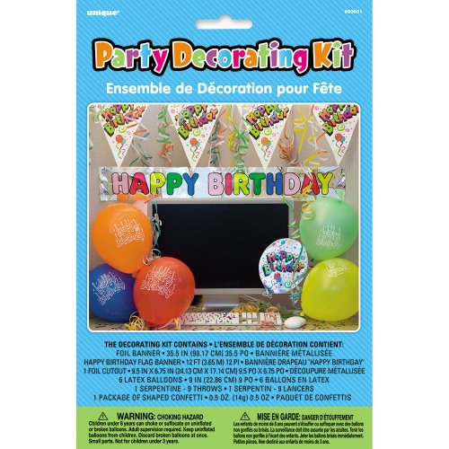 Office Birthday Party Cubicle Decoration Kit, 7pc
