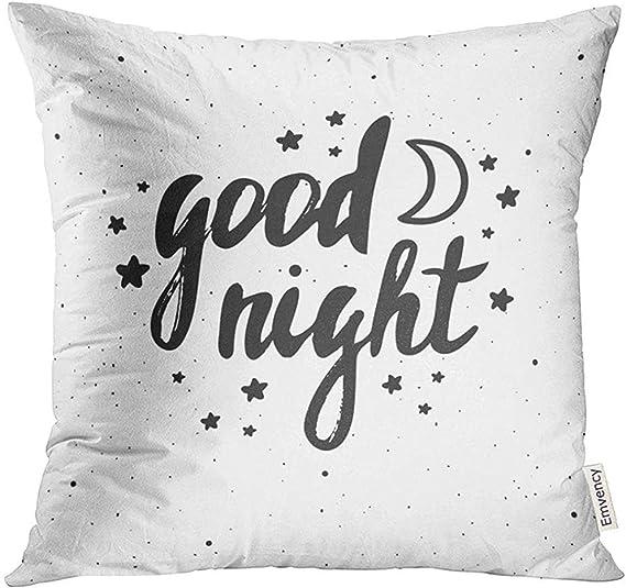 shizh Estrella Negra Buenas Noches Diseño Letras Mano Blanca ...