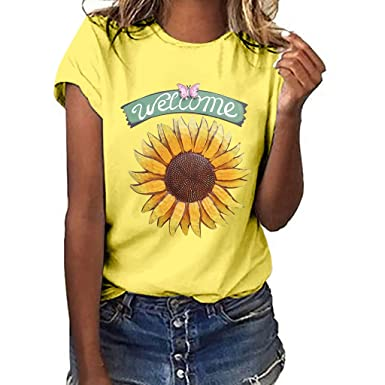 Camiseta Mujer Verano 2019 Informal Top Mujer Elegante y ...