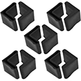 uxcell Rubber L Shaped Angle Iron Foot Pads Covers 10 Pcs Black