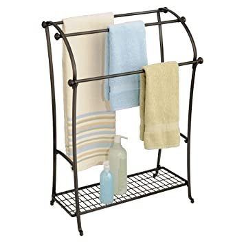 Amazoncom Interdesign York Lyra Free Standing Floor Towel Holder