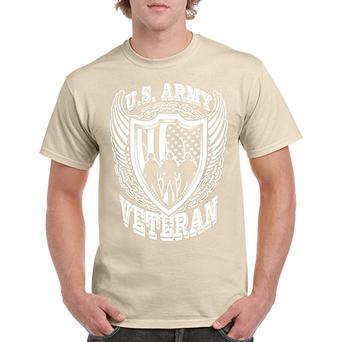 16646b49542 Image Unavailable. Image not available for. Color  Long Beach Apparel Us  Army Veteran Mens T-Shirt ...