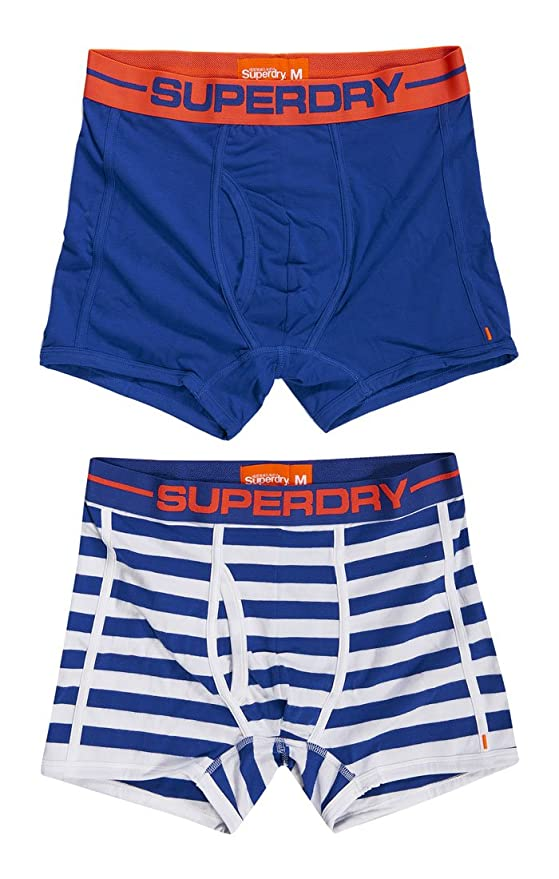 7cfe164918 Superdry Men's Sport Stripe Boxer - Double Pack at Amazon Men's Clothing  store: