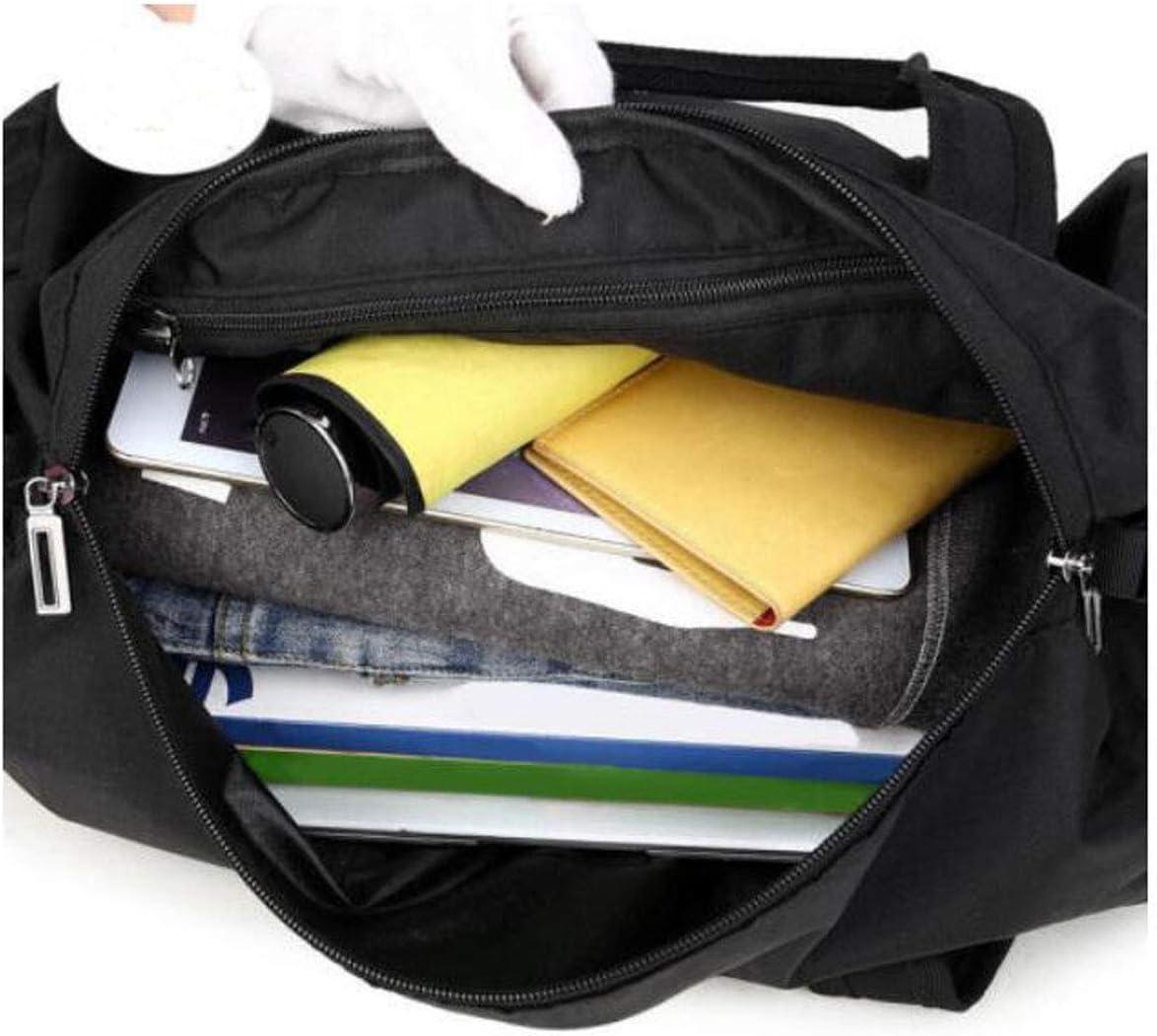 Black Size: 472727cm Travel Duffel Bag for Men and Women ZHICHUANG Fitness Bag Travel Business Bag Mens Shoulder Strap Handbag