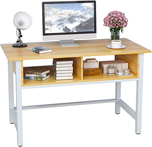 HAISIHOME Home Office Desk Sturdy Computer Laptop 47 inch Table - a good cheap modern office desk