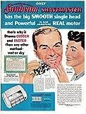 Best Prints Prints Prints Electric Shavers - 1953 Sunbeam Shavemaster Electric Shaver-Razor-Original 13.5 * 10.5 Review
