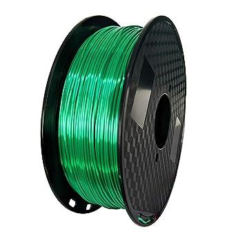 Filamento para impresora 3D, 1,75 mm, filamento PLA de seda (verde ...