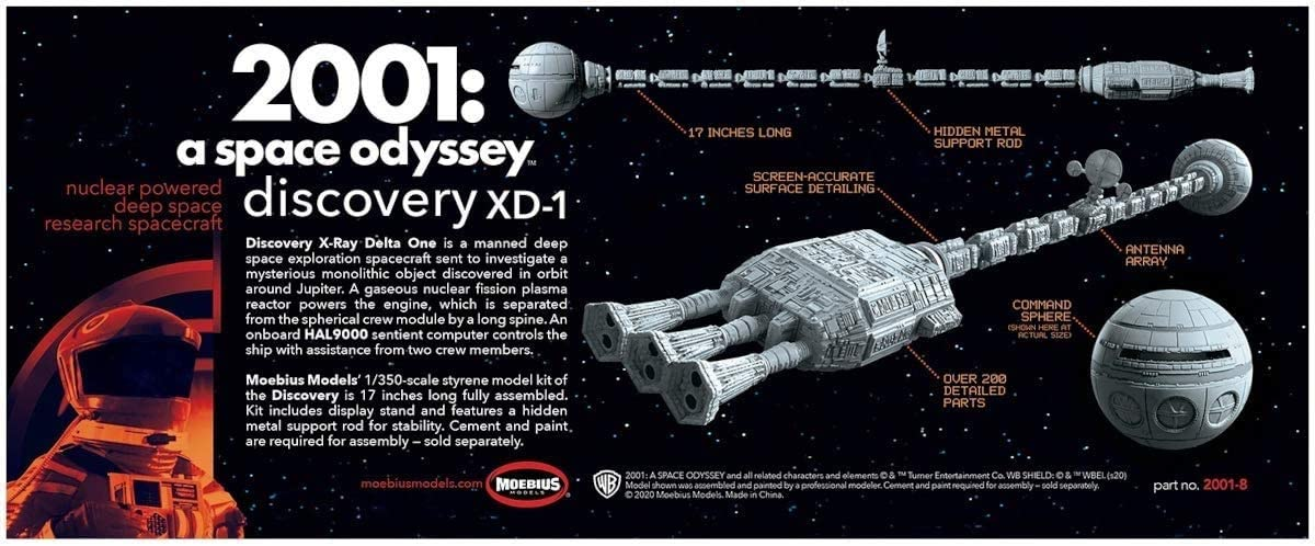 Moebius 2001 Space Odyssey 1//350 Discovery XD-1 MOE2001-8