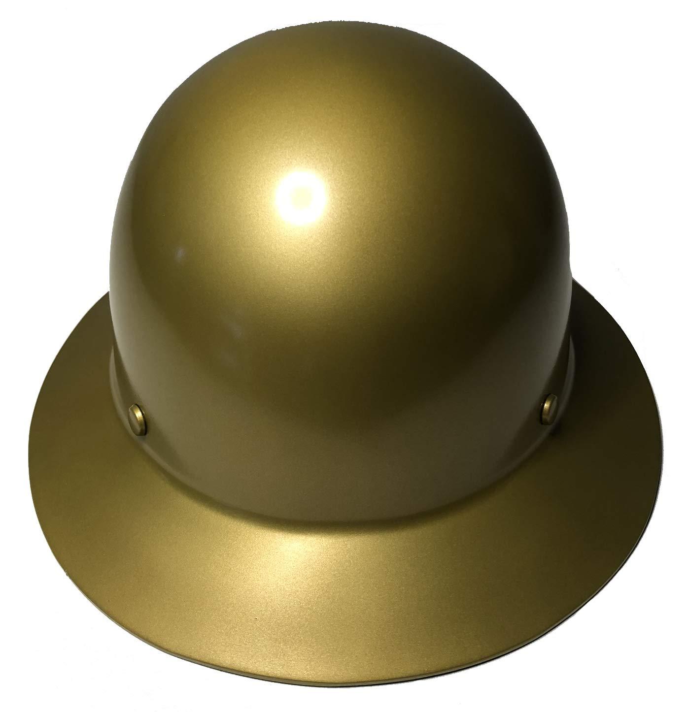 Hard Hat MSA Skullgard Full Brim Custom Gold Metallic Satin by Bag R Buck (Image #5)