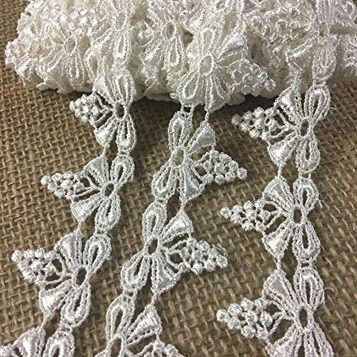 4 Yards, Delicate Bow with Mini Grapes Venice Lace Trim, Rayon, 1.25