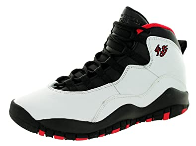 cacf092fcd7 Amazon.com | AIR Jordan 10 Retro Big Kids Style, White/Black/True Red, 5.5  | Basketball