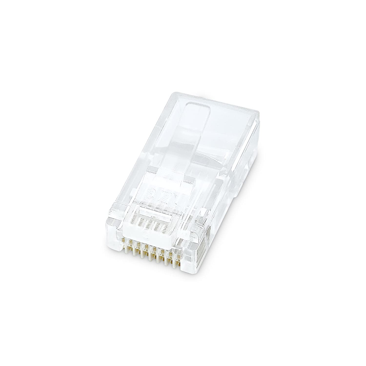 Belkin Rj45 Plug With Gold Plated Contacts For Flat Cat 5e Wiring Diagram Cable 10 Pack Electronics