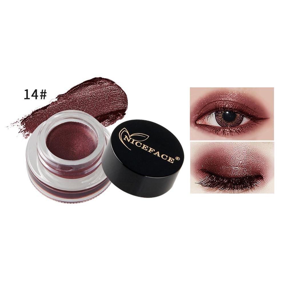 Ownsig Diamond Shine Illuminating Eyeshadow Cream Gel Waterproof Long-wear Eye Liner Eyeshadow Pigment Gel 4#