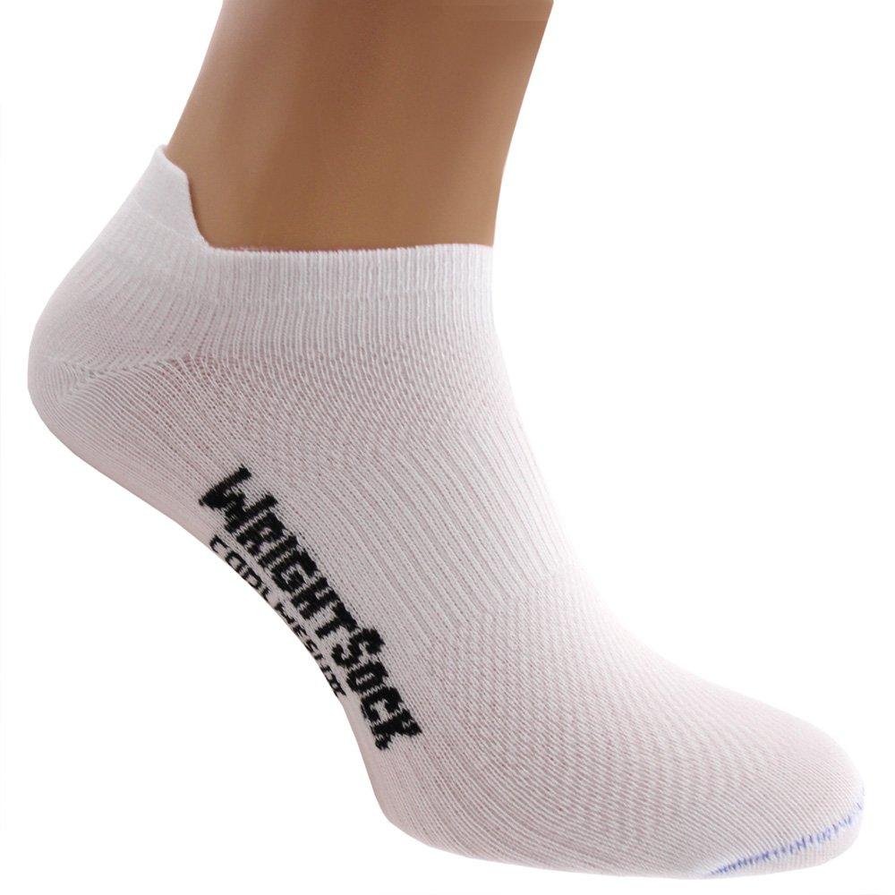 WrightSock Profi Sportsocke, Laufsocke, Sneakers Modell Coolmesh II in weiß, Anti-Blasen-System, doppel-lagig, Low Tab kurz
