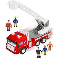 FUNERICA Toy Fire Truck with Lights and Sounds - 4 Sirens - Extending Ladder - Powerful Friction Rolling - for Kids…