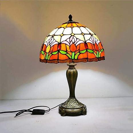 Lámpara de mesa estilo Tiffany/Lámpara de escritorio de vidrio ...