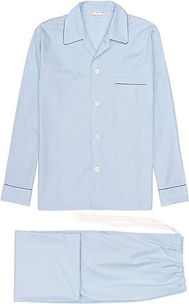 Derek Rose – Pijama de hombre, Savoy cielo Azul Tie cintura ...