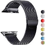 MouKou Remplacement Bracelet pour Apple Watch série 4 44mm et série 3/2/1 42mm Boucle en Maille iWatch Milanese avec Fermoir magnétique
