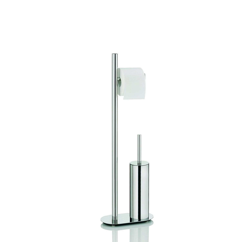 Kela 22698 set WC support papier toilette + brosse - acier inoxydable - 'Lucido'