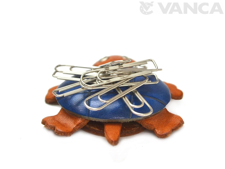 Tortue 3D en cuir v/éritable-Animal-VANCA poissons **Fait /à la main au Japon