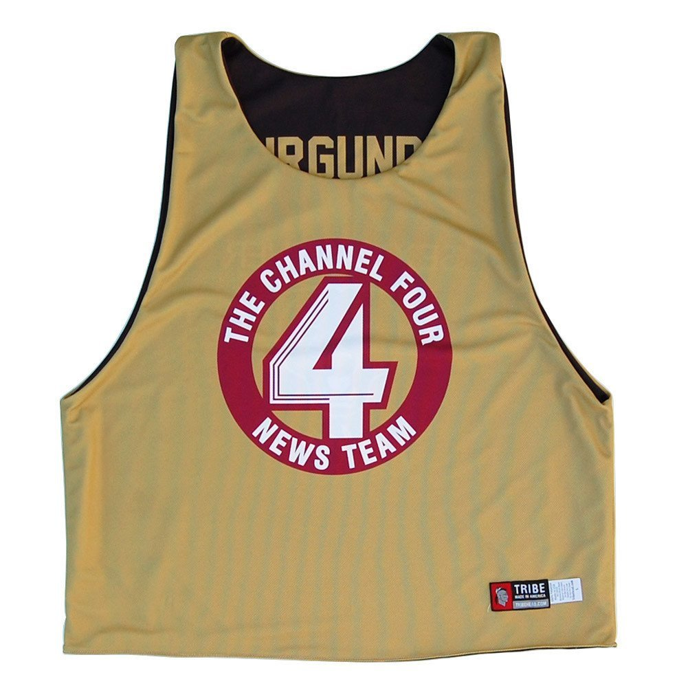 XX-Large Anchorman Sublimated Lacrosse Pinnie Vegas Gold