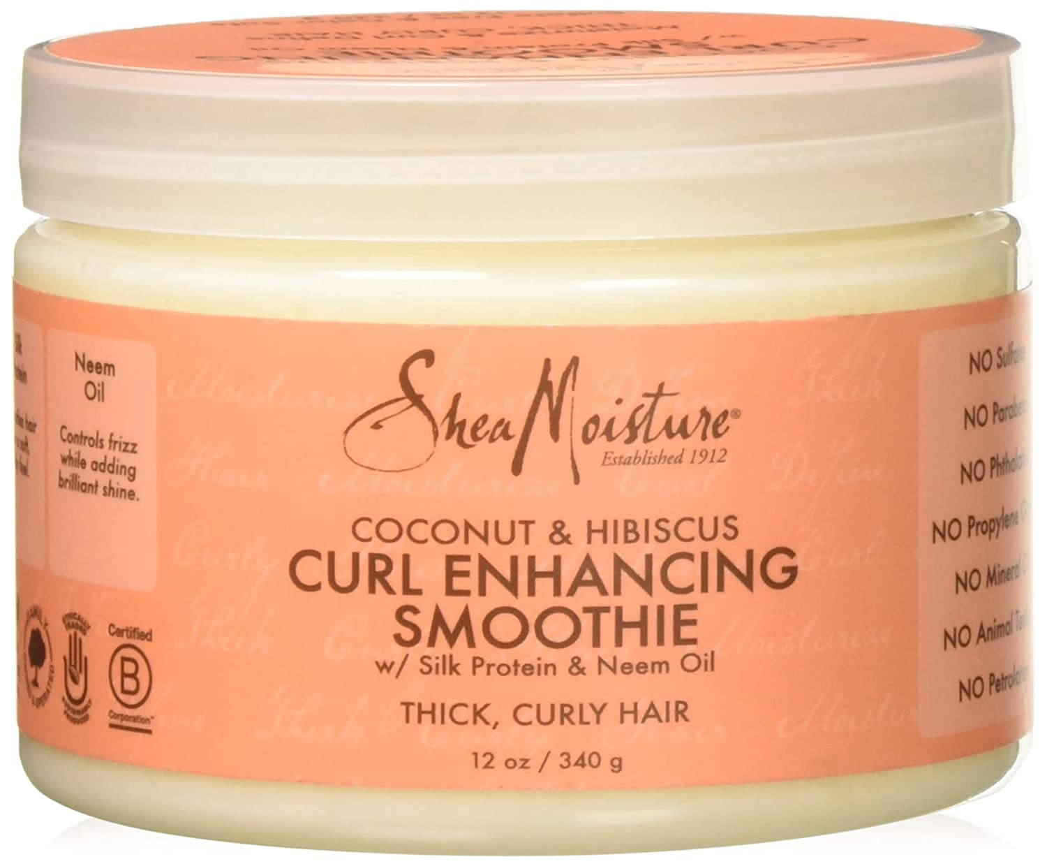 SheaMoisture Coconut & Hibiscus Curl Enhancing Smoothie, 12 Ounce Shea Moisture NA