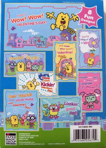 Wow! Wow! Wubbzy Valentine Cards 32 Pack