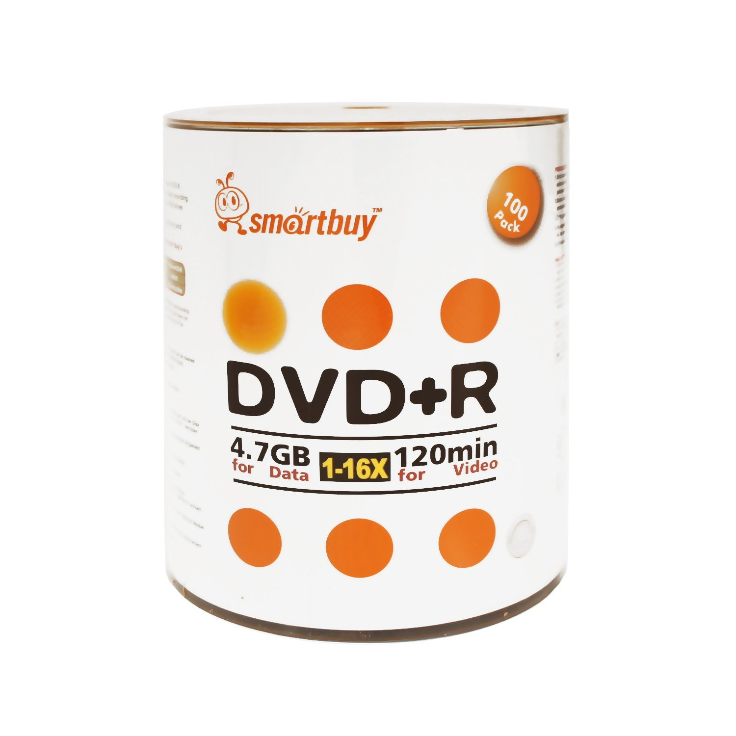 Smart Buy 1000 Pack DVD+R 4.7gb 16x Logo Blank Data Video Movie Recordable Disc, 1000 Disc 1000pk by Smart Buy (Image #2)