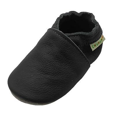 Amazon.com: Sayoyo - Zapatos de piel para bebé, suela suave ...