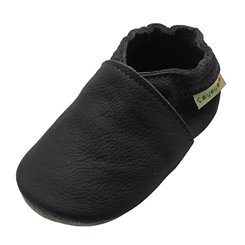 cfd9435969bd Sayoyo Baby Soft Sole Prewalkers Anti-Skip Baby Toddler Shoes Cowhide Shoes  (6-